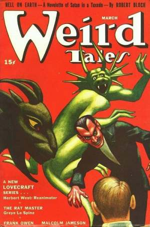 A Cover Of the Magazine Weird Tales.